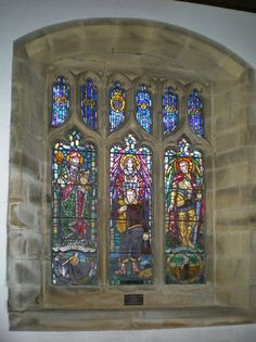 Stained Window at St Mary's Church, Kettlewell, Upper Wharfedale, #Yorkshire_Dales National Park, #England.