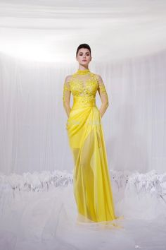 Find More Evening Dresses Information about 2014 Fiesta Fashion Mermaid Prom Dress With Long Sleeve Sheer Neck High Collar Applique Lace Evening Dresses ,High Quality fashion going out dresses,China fashionable dress Suppliers, Cheap fashion from Sao Tome Garments Co., Ltd. on Aliexpress.com