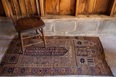 Nutty Brown Vintage Prayer Rug by oldnewhouse