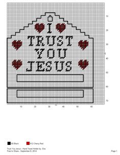 I trust you Jesus-hand towel holder Plastic Canvas Crafts, Plastic Canvas Patterns, Tissue Box Covers, Tissue Boxes, Canvas 5, Towel Holders, Bag Toppers, Paper Towels, Christmas Projects
