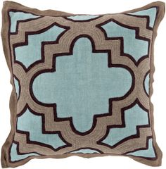 Traditional pattern with Candice's contemporary twist. A pillow designed by #CandiceOlson for Surya. @Candice Olson (MCO-001)
