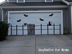 Garage Door Decor for Halloween - 42 Last-Minute Cheap DIY Halloween Decorations You Can Easily Make