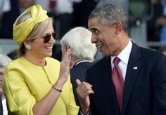 Queen Maxima and President Obama,70th anniversary of D-Day, June 6 2014