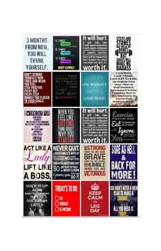 Digital Download  Work Out Quote Stickers for Erin by PhiaSticks