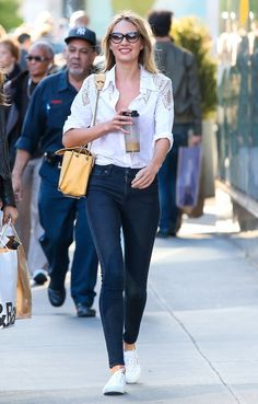 Pin for Later: Candice Swanepoel Gives Us the Secret to Effortless Off-Duty Style