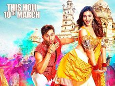 Varun Dhawan and Alia Bhatt shine in the new colourful poster of 'Badrinath Ki Dulhania'