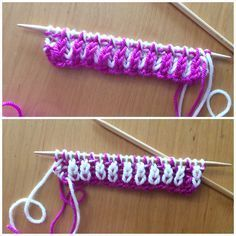Brioche knitting in Wooly Worsted yarn
