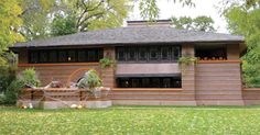 Brick Frank Lloyd Wright home