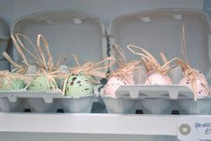 Easter baskets in egg cartons