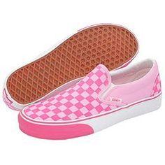 Vans Classic Slip-on Checkerboard prism pink/fandango pink women's $46