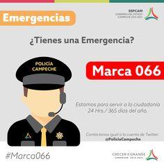 Teléfono de emergencias en el Estado de Campeche (SSPCAM 2016)