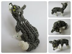 Rainbow Loom husky puppy - wolf cub Part 1/2 Loombicious - YouTube