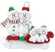 Family+of+4+Snowman+Snow+Family++Hand+by+TreasuredOrnaments,+$12.95