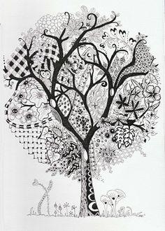 Efie goes Zentangle: art-tangle-club no 123