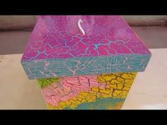 Como Hacer Un Craquelado Casero Facil - Con cola vinílica sobre madera o cartón. YouTube