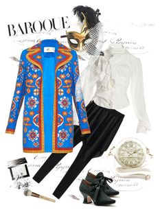 """""""Baroque Today"""" by giovanina-001 ❤ liked on Polyvore featuring Vivienne Westwood, Valentino, Masquerade, Burberry and Bobbi Brown Cosmetics"""
