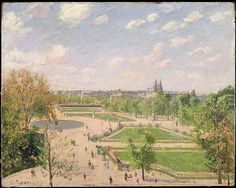 Camille Pissarro, (French,1830–1903). The Garden of the Tuileries on a Spring Morning, 1899. The Metropolitan Museum of Art, New York. Partial and Promised Gift of Mr. and Mrs. Douglas Dillon, 1992 (1992.103.3) #paris