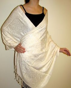 ivory white scarves shawls and wraps such a refreshing touch to any woman's summer wardrobe.