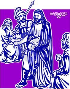 Tercera estación del Viacrucis: Jesús es condenado por el Sanedrín.