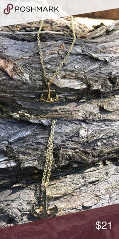 Super Cute Gold Tone Nautical Anchor Necklace Fashion Jewelry Gold Tone Nautical Anchor Necklace    Super cute. Keep for your self or give as a gift. Navy nautical anchor. Great beach/nautical/Navy theme wedding gift.    * Cones packaged in a white square jewelry box.  * Link chain * Lobster clasp closure   ** Cheaper on ♏️ *** @posh_808#Navy #Nautical #Anchor #Necklaces #Boat Hooks #Women jewelry#trending#gold#necklace @posh_808 Jewelry Necklaces