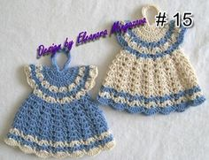 1000+ images about crocheted dresses potholders on ...