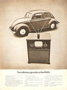 old volkswagen advertising
