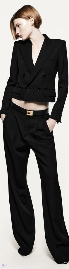 90s Fashion, Womens Fashion, Minimal Chic, Fancy Pants, Office Outfits, Catwalk, Yves Saint Laurent, Street Style, Black And White