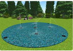 12ft splash pad for your backyard!