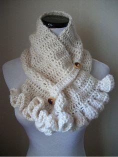 Free Ruffle Crochet Pattern for neck warmer~  great gift idea