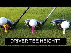Whats the correct tee height for your driver? When teeing off with a driver should you use a low tee or a high tee? In this weeks golf instructional video I . Golf Driver Swing, Golf Drivers, Girls Golf, Ladies Golf, Golf Basics, Golf Ball Crafts, Golf Stance, Golf Putting Tips, Golf Practice