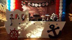 Inspire sua Festa ®   Blog sobre festas e maternidade Boat Projects, Candy Table, Nautical Theme, Birthday Candles, Party Themes, Cupcake, Sailor Party, Over 50, Boas