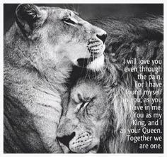 I need my King same as he need me.