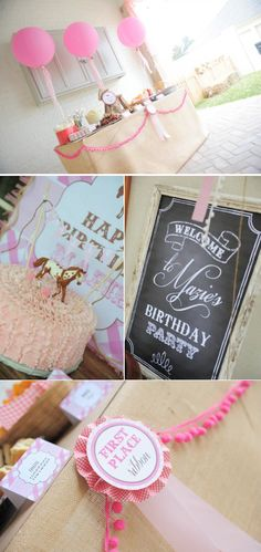 Pink pony themed birthday party via Karas Party Ideas KarasPartyIdeas.com #pony #horse #birthday #party
