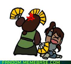 Avatar: The Legend of Korra Photo: Kyoshi vs. Avatar Aang, Avatar The Last Airbender Funny, The Last Avatar, Avatar Funny, Team Avatar, Avatar Airbender, Atla Memes, Avatar Series, Iroh