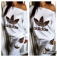 Article: CDF00122 #leopard #white #tracksuit #sweatsuit Stylish womens leopard print and lwhite sweatsuit