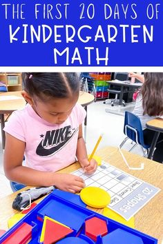 The first 20 days of teaching kindergarten math is simple with these lesson plans and activities! Students practice numbers to 5, 2D shapes, and 3D shapes.
