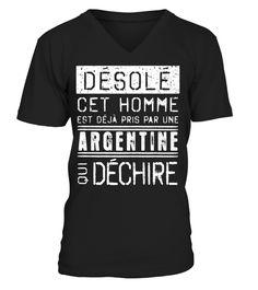 T-shirt Désolé Argentine . NON VENDU EN MAGASIN - EN LIGNE SEULEMENTComment  commander 3b6a12f4a01
