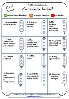 SELF assessment - Avaluació Spanish Classroom Activities, Teaching Spanish, Classroom Organization, Classroom Management, Familia Y Cole, Teachers Corner, Flipped Classroom, Cooperative Learning, Self Assessment