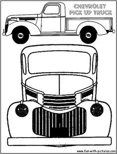 vintage truck color book pages
