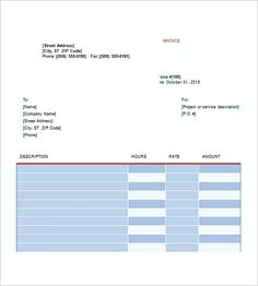 Catering Invoice Template Excel Pleasing Rent Invoice Template  Knowing Some Details About Rent Invoice .