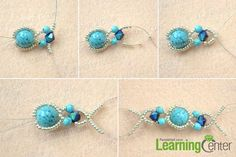 String beads for the handmade turquoise rings