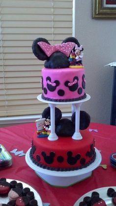 My latest creation! Mickey & Minnie cake