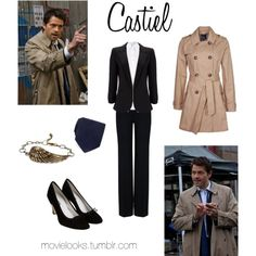 """Castiel (Supernatural)"" by little-miss-blue on Polyvore"