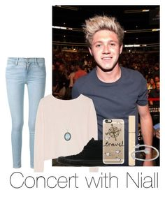 """Concert with Niall"" by autumnfarmer ❤ liked on Polyvore featuring Frame Denim, Banjo & Matilda, Converse, Casetify, Stila and Armenta"