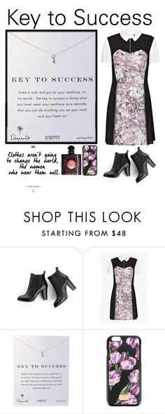 """""""Key to Success"""" by soso-alliso ❤ liked on Polyvore featuring SWEET MANGO, French Connection, Dogeared, Dolce&Gabbana and Yves Saint Laurent"""