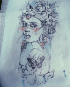 986 mentions J'aime, 25 commentaires - Pliszka Stencils Tatuagem, Tattoo Stencils, Gypsy Tattoo Sleeve, Sleeve Tattoos, Gypsy Tattoos, Tattoo Studio, Tattoo Sketches, Tattoo Drawings, Drawing Sketches