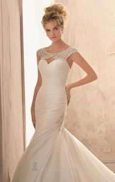 Cutout Organza Gown by Bridal by Mori Lee 2612