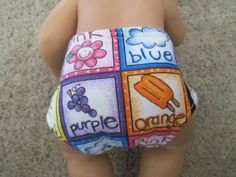 """Baby Alive Doll Clothes Set 2 Thick Quilted Lining Diapers Wetting Dolls 12 13"""" 