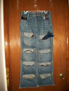 Awesome Organizer Made From Old Jeans