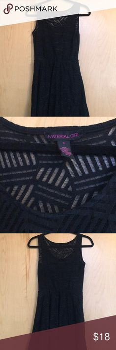 Black Material Girls Skater Dress Great condition, gently used Size small Material Girl Dresses Mini